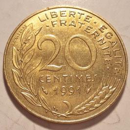 France 20 Centimes 1962-2001 KM#930