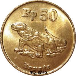 Indonesia 50 Rupiah 1991-1998 KM#52