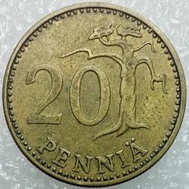 Finland 20 Penniä 1963-1990 KM#47