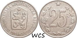 Czechoslovakia 25 Haleru 1962-1964 KM#54