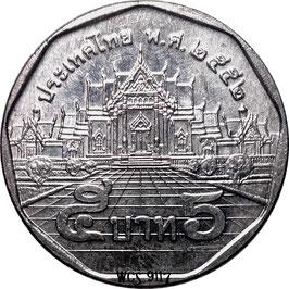 Thailand 5 Baht 2008-2017  Y#446