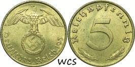 Germany - Third Reich 5 Reichspfennig 1936-19369 KM#91