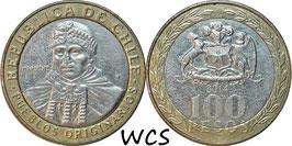 Chile 100 Pesos 2001-2018 KM#236