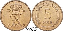 Denmark 5 Öre 1960-1972 KM#848