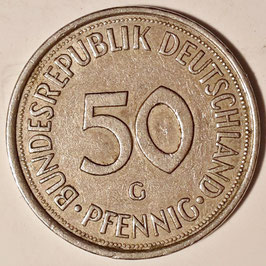 Germany 50 Pfennig 1972-2001 KM#109.2