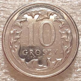 Poland 10 Groszy 1990-2015 Y#279