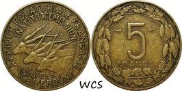 Cameroon 5 Francs 1958 KM#10 VF