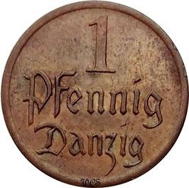 Danzig 1 Pfennig 1926 KM#140 VF+