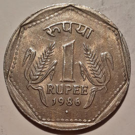 India 1 Rupee 1982-1990 KM#79.1
