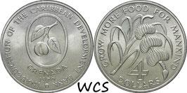 Grenada 4Dollars1970 F.A.O. KM#15 UNC
