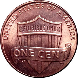 USA 1 Cent (Lincoln Cent - Shield Reverse) 2010 KM#468 XF