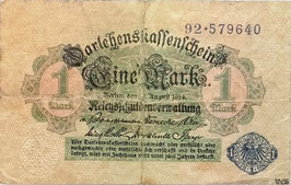 Germany 1 Mark 12.08.1914 (1920) Ro 51d
