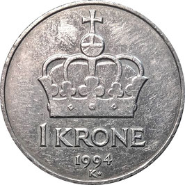 Norway 1 Krone 1992-1996 KM#436
