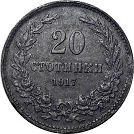 Bulgaria 20 Stotinki 1917 KM#26a VF
