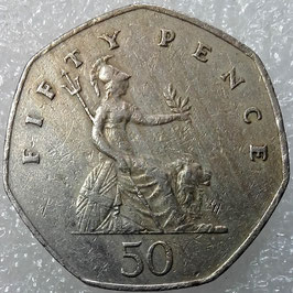 Great Britain 50 Pence 1982-1984 KM#932