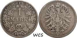 German Empire 1 Mark 1875 C KM#7 F (2)