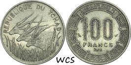Chad 100 Francs 1975 KM#3 VF