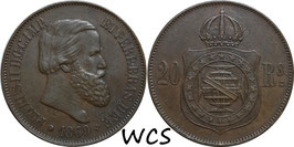 Brazil 20 Reis 1869 KM#474 XF