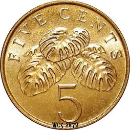 Singapore 5 Cents 1992-2012 KM#99