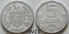 Moldova 5 Bani 1993-2018 KM#2