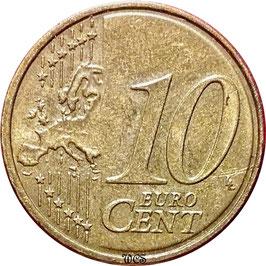 Slovenia 10 Cents 2007 KM#71 VF