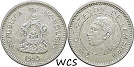 Honduras 20 Centavos 1995-2016 KM#83a.2