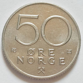 Norway 50 Øre 1974-1996 KM#418