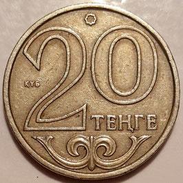 Kazakhstan 20 Tenge 1997-2012 non-magnetic KM#26