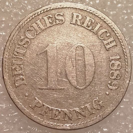 German Empire 10 Pfennig 1873-1889 KM#4