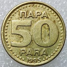 Yugoslavia 50 Para 1995 KM#163a VF-