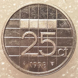 Netherlands 25 Cents 1982-2001 KM#204