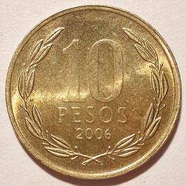Chile 10 Pesos 1990-Date KM#228.2