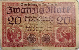 Germany 20 Mark 20.02.1918 Ro 55 Series S