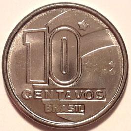 Brazil 10 Centavos 1989-1990 KM#613