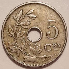 Belgium 5 Centimes 1910-1931 BELGIË KM#67