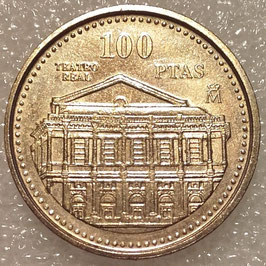 Spain 100 Pesetas 1997 - Teatro Real KM#984 XF