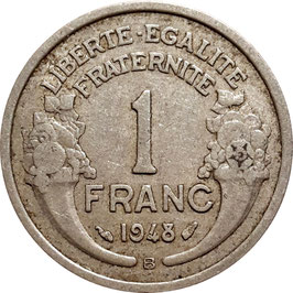France 1 Franc 1945-1958 Beaumont-le-Roger KM#885a.2