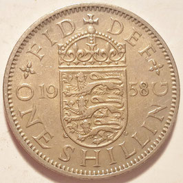 Great Britain 1 Shilling 1954-1970 English KM#904