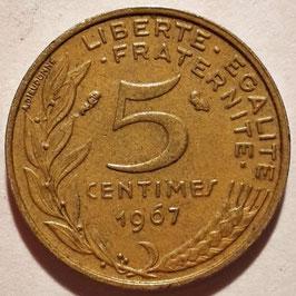 France 5 Centimes 1966-2001 KM#933