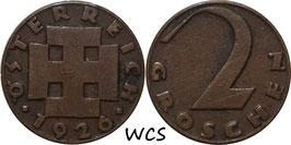 Austria 2 Groschen 1925-1938 KM#2837