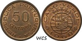 Cape Verde 50 Centavos 1968 KM#11 UNC-