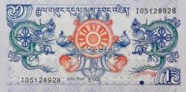Bhutan 1 Ngultrum 2006 P.27a UNC
