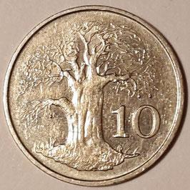 Zimbabwe 10 Cents 1980-1999 KM#3