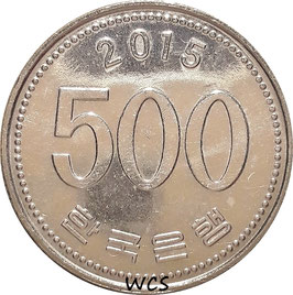 South Korea 500 Won 1982-2017 KM#27