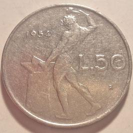 Italy 50 Lire 1954-1989 KM#95.1