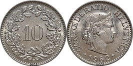 Switzerland 10 Rappen 1879-2015 KM#27
