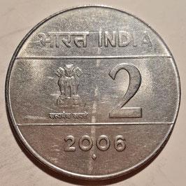 India 2 Rupees 2005-2007 KM#326
