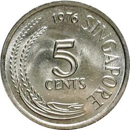 Singapore 5 Cents 1967-1985 KM#2