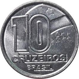 Brazil 10 Cruzeiros 1990-1992
