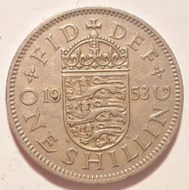 Great Britain 1 Shilling 1953 English KM#890 VF